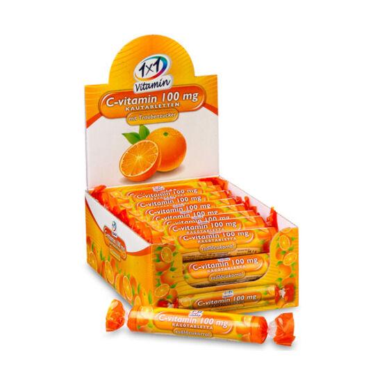 1x1 Vitaday C-vitamin  100 mg rágótabletta narancs (17x)