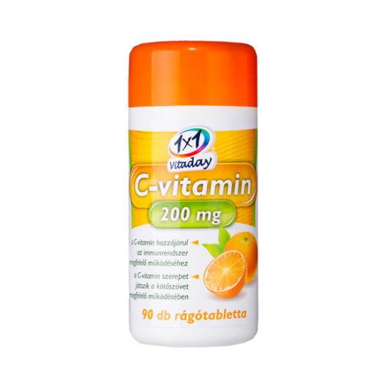 1x1 Vitaday C-vitamin  200 mg rágótabletta narancs (90x)
